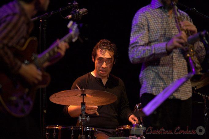 Festival JAZZ360 2015, Antoine Paganotti; Jean-Claude Oleksiak Quartet, Cénac. 13/06/2015