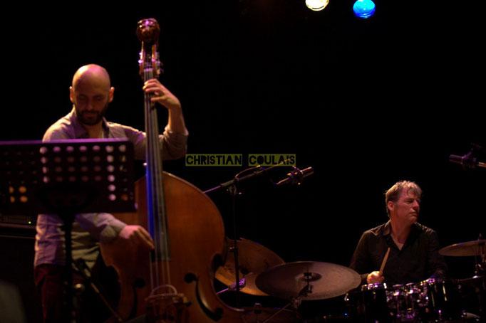 Festival JAZZ360 2014, Mauro Gargano, Louis Moutin; Christophe Laborde Quartet feat Giovanni Mirabassi. Cénac, 06/06/2014