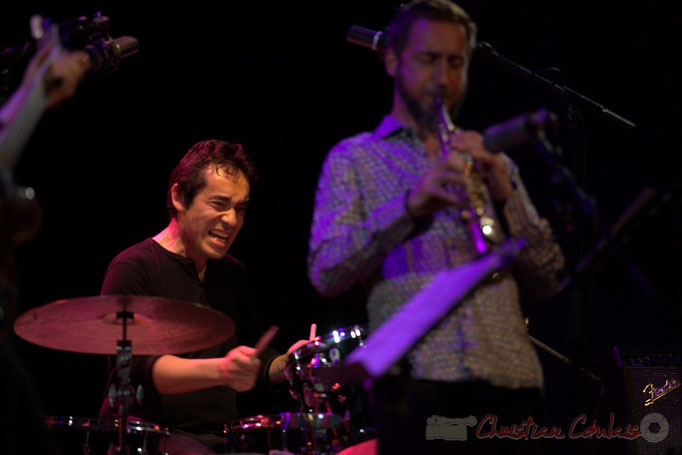 Festival JAZZ360 2015, Antoine Paganotti, Christophe Panzani; Jean-Claude Oleksiak Quartet, Cénac. 13/06/2015