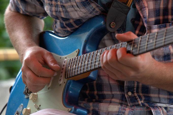 Festival JAZZ360 2015, guitare de Pierre Génin, Cénac. 13 juin 2015