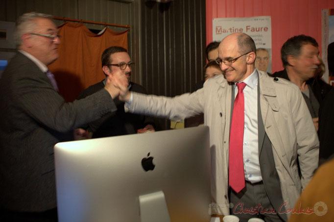 Jean-Marie Darmian remercie Christian Soubie pour le bel investissement de Tresses