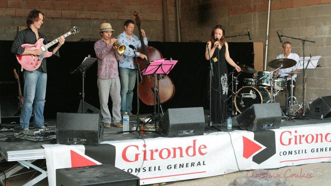 Hans Van Heven, Yann Loustalot, Olivier Gatto, Florinda Piticchio, Iano Anzelmo; Florinda Piticchio & Balarm Quartet, Festival JAZZ360 2011, Cénac. 05/06/2011