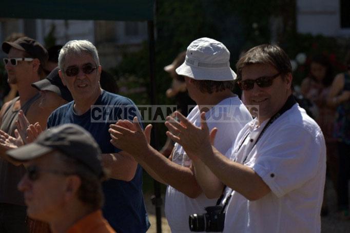 à D. Patrick Perez, élu de Quinsac en charge du Festival JAZZ360 2014, château Lestange. 08/06/2014