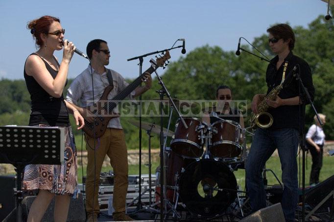 Elodie Hurtaud, Julien Paoletti, Thierry Tassaing, Gaël Lafleuriel; Mil&Zim Jazz, Festival JAZZ360 2014, Quinsac. 08/06/2014