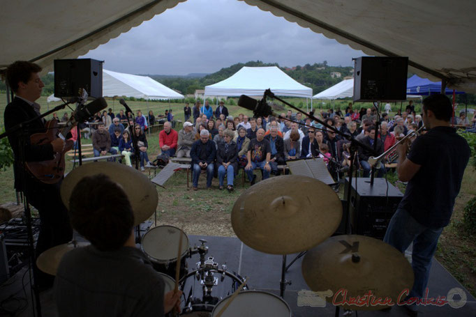Festival JAZZ360 2015, Isotope Trio. Château Lestange, Quinsac. 14/06/2015
