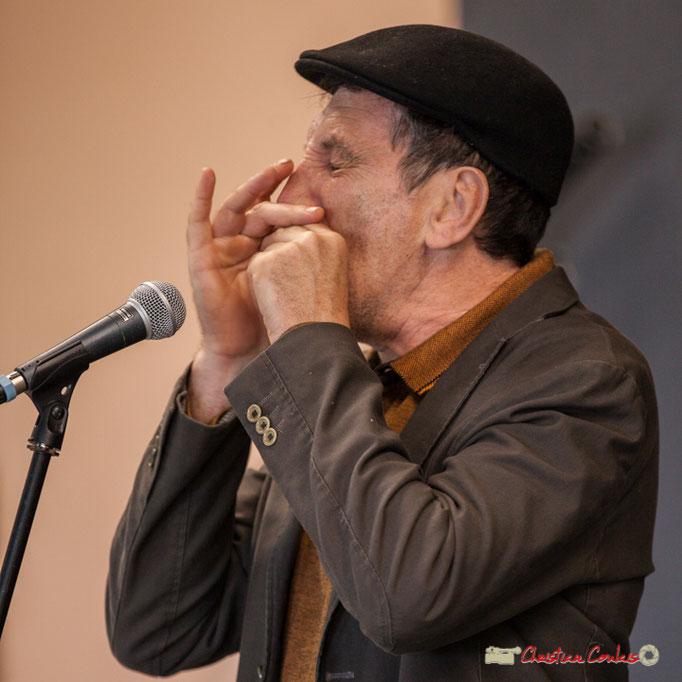 Cadijo, célèbre bluesman girondin, raconteur d'histoires du blues. Festival jAZZ360, Cénac. 05/06/2018