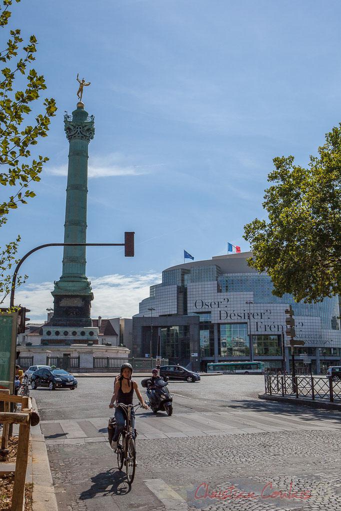 Place de la Bastille, rue Saint-Antoine, Paris 11ème arrondissement