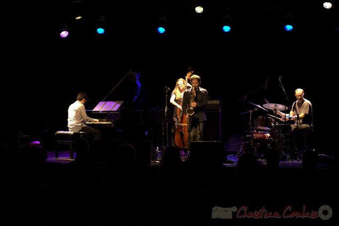 "Paul Lay, Nolwenn Leizour, Frédéric Borey, Stefano Lucchini; Frédéric Borey ""Lines"" Quartet, Festival JAZZ360 2012, Cénac. 08/06/2012"