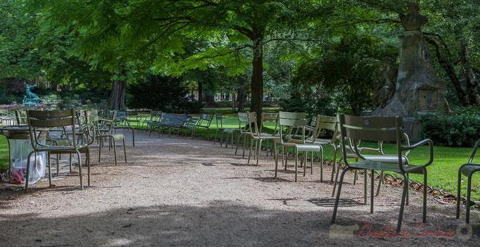 Jardin du Luxembourg, (4 800 chaises et fauteuils mobiles), Paris 6ème