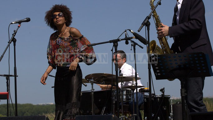 Mayomi Moreno, Franck Leymeregie; Akoda Quintet, Festival JAZZ360 2014, Quinsac. 08/06/2014
