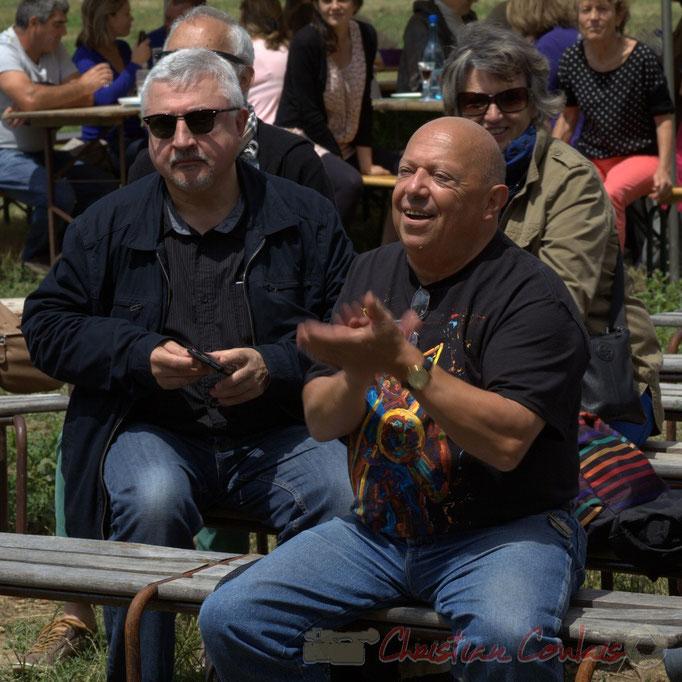 Festival JAZZ360 2015, Dom Imonk & Alain Piarou, Président d'Action Jazz. Château Lestange, Quinsac. 14/06/2015