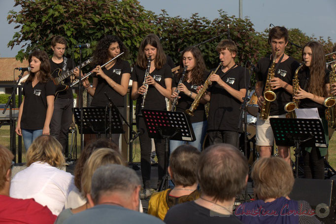 Festival JAZZ360 2015, concert du Big Band du Collège de Monségur, Cénac, 12/06/2015
