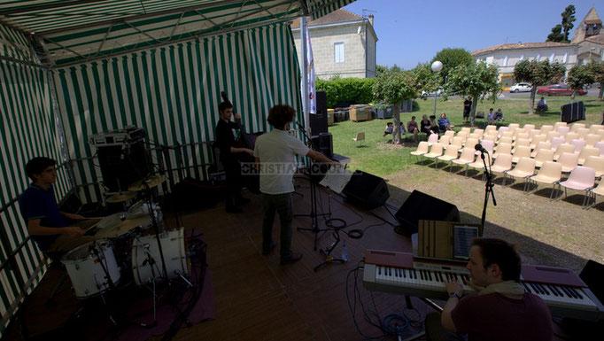 Festival JAZZ360 2014, Pierre Lucbert, Gabriel Pierre, Brice Matha, Vincent Vilnet ; Delbosque Band. Cénac, 07/06/2014