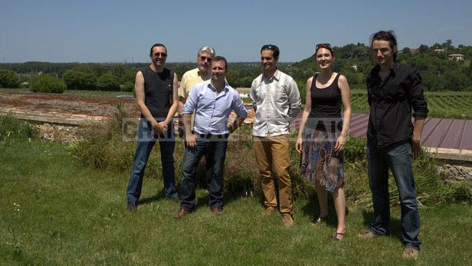 Thierry Tassaing, Jean-Luc Peon, Vincent Madelmont, Julien Paoletti, Elodie Hurtaud, Gaël Lafleuriel; Mil&Zim Jazz, Festival JAZZ360 2014, Quinsac. 08/06/2014