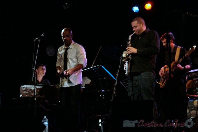 Xavier Duprat, Marco Codjia, Denis Guivarc'h, Benoît Lugué; Fada. Festival JAZZ 2010, Cénac. 14/05/2010