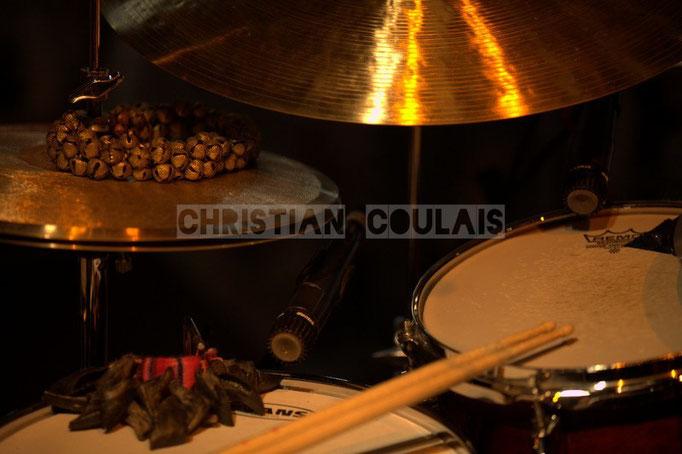 Festival JAZZ360 2014, batterie & percussions, Anne Quillier Sextet, Cénac. 07/06/2014