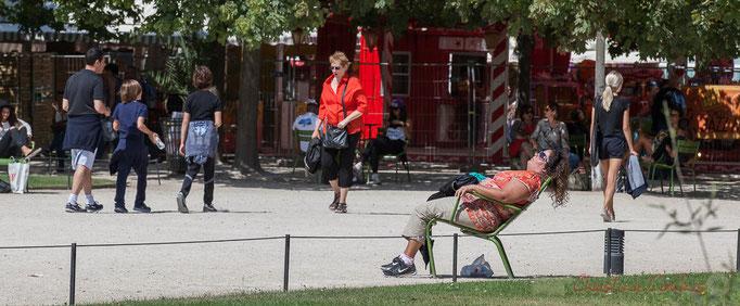"""""""Sieste ensoleillée"""", Jardin des Tuileries, Paris 1er"""