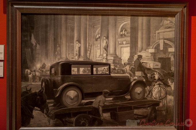 L'arrivée des voitures au Grand Palais pour le Salon automobile (vers 1930), Léon Fauret, Musée Carnavalet