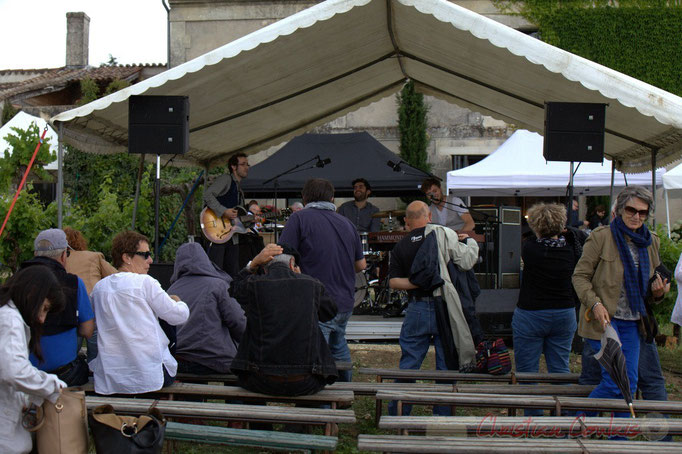 1/4 Festival JAZZ360 2015, le temps d'une averse, Château Lestange, Quinsac. 14/06/2015