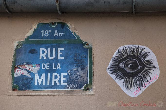 Street art, Rue de la Mire, Monmartre, Paris 18ème arrondissement