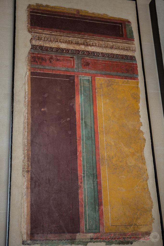 Fragment de peinture murale, imitant un décor archtectural, Fin du 1er s. avant JC, Villa de Flannius Synistor, Boscoreal près de Pompéi, Musée du Louvre