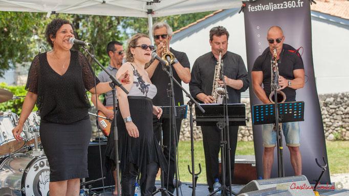 Sly Marot, Stéphane Allain, Flore Lemaitre, Claude Lermène, Denis Bonithon, Yohann Pichon; Soul Kitchen, Festival JAZZ360, Quinsac. 11/06/2017