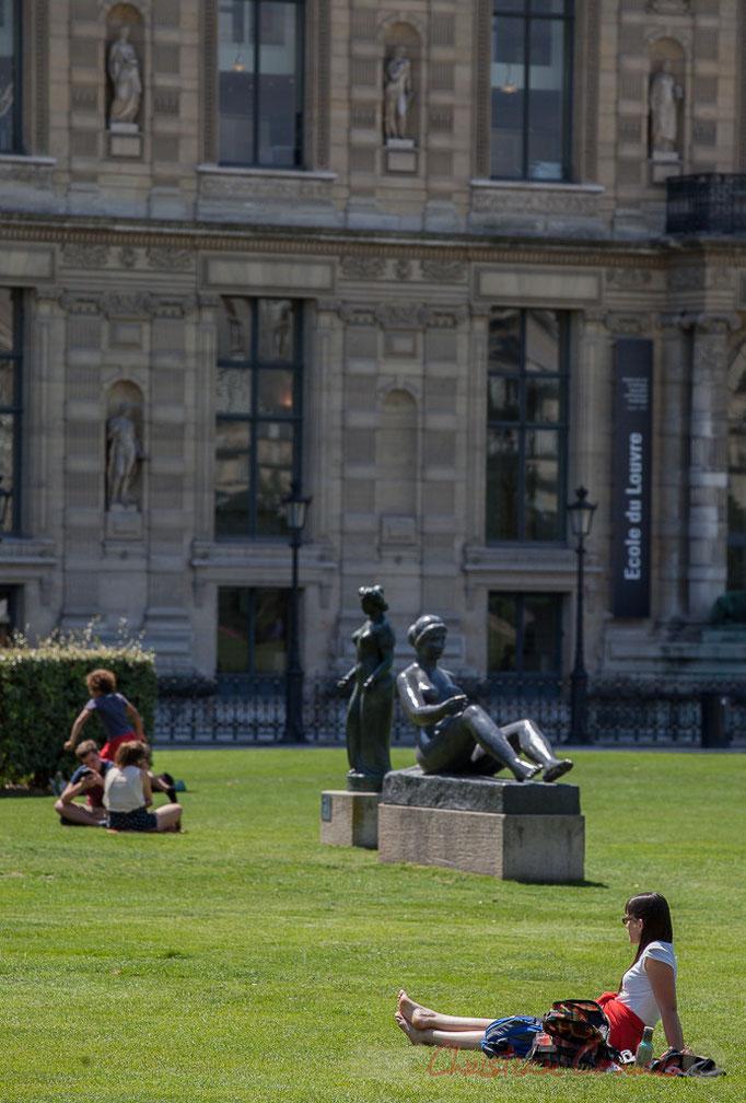 Jeune(s) fille(s) allongée(s), Aristide Maillol, Jardin du Carrousel, Paris 1er