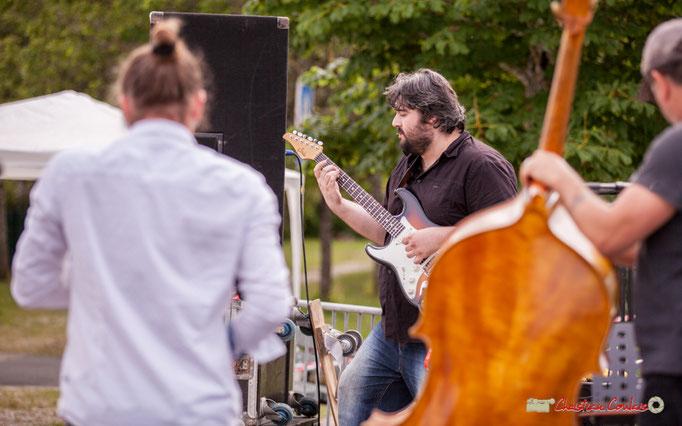 Valentin Foulon-Balsamo, Jean-François Valade, François Mary; Docteur Nietzsche Quartet. Festival JAZZ360 2018, Cénac. 08/06/2018