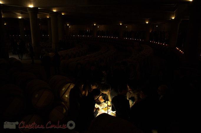 Dégustation. Thibaut Cauvin aux Estivales de musique en Médoc, Château Lafite Rothschild, Pauillac, 15 janvier 2015. Reproduction interdite - Tous droits réservés © Christian Coulais