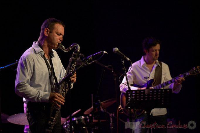 Festival JAZZ360 2015, Thomas Savy, Mickaël Felberbaum; Thomas Savy Quintet. Cénac, 13/06/2015