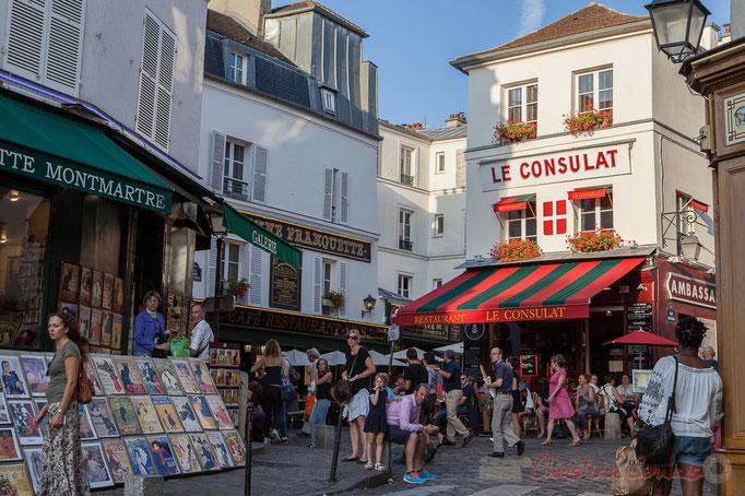 Rue Norvins, Monmartre, Paris 18ème arrondissement