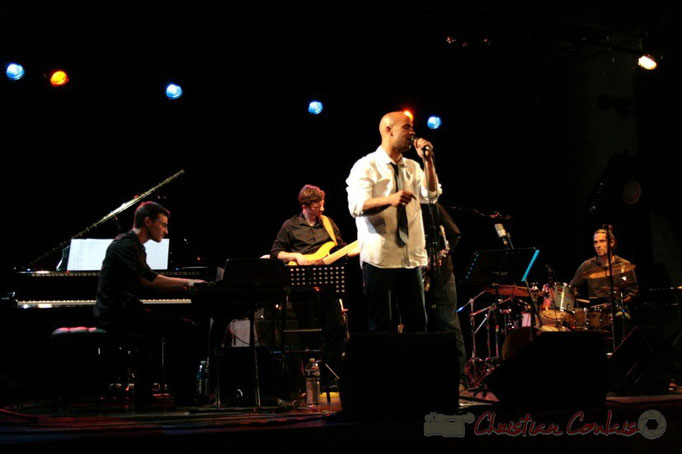 Xavier Duprat, Benoît Lugué, Marco Codjia, Vincent Sauve; Fada. Festival JAZZ 2010, Cénac. 14/05/2010