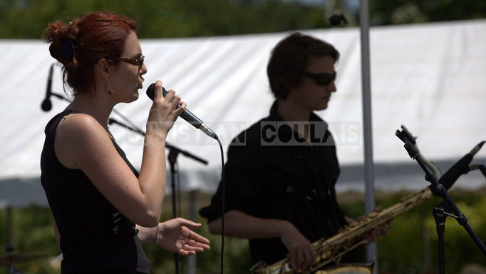 Elodie Hurtaud, Gaël Lafleuriel; Mil&Zim Jazz, Festival JAZZ360 2014, Quinsac. 08/06/2014