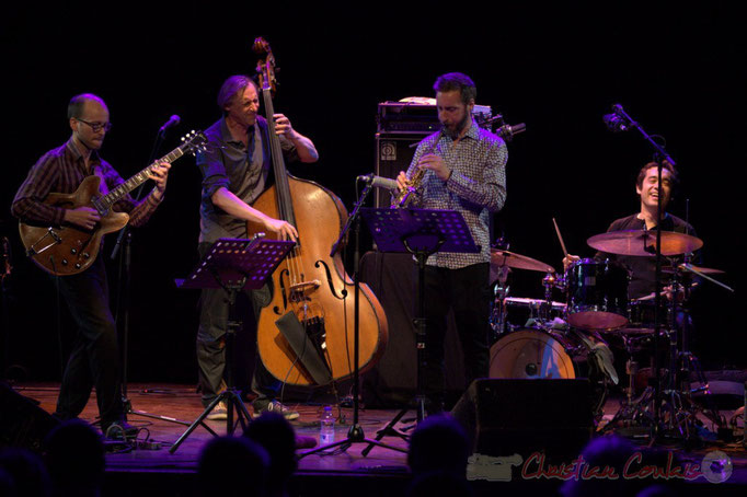 Festival JAZZ360 2015, Pierre Perchaud, Jean-Claude Oleksiak, Christophe Panzani, Antoine Paganotti; Jean-Claude Oleksiak Quartet, Cénac. 13/06/2015