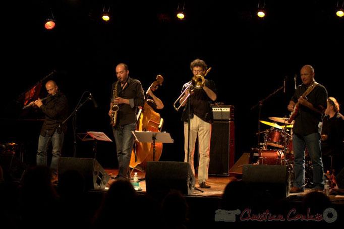 Remi Poymiro, Mathieu Saint-Laurent, Slobodan Sokolovic, Christophe Gagner; Slobodan Sokolovic Sextet. Festival JAZZ360 2012, Cénac. 08/06/2012