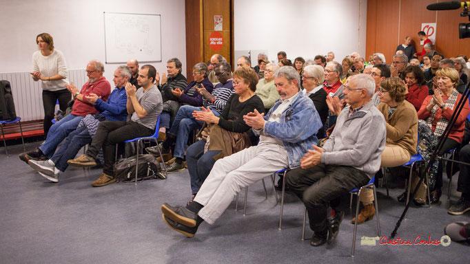 2/2 Applaudissements fournits pour les propose de Michel Fourcade. Comité d'appui la France insoumise aux élections européennes, Bordeaux. 22/11/201