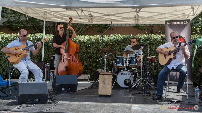 Cyril Salvagnac, Fabrice Camboulive, Laurent Meyer, Christophe Gruel; Mystèretrio Quartet, Festival JAZZ360, Latresne. 11/06/2017