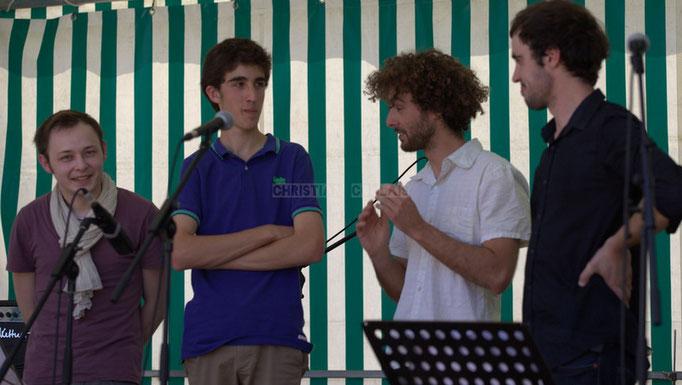 Festival JAZZ360 2014, Vincent Vilnet, Pierre Lucbert, Brice Matha, Gabriel Pierre; Delbosque Band. Cénac, 07/06/2014