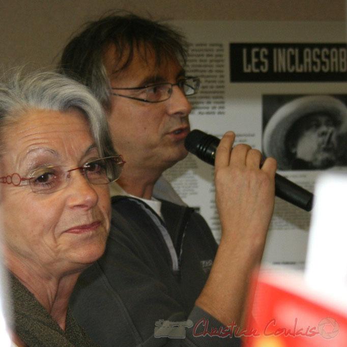 Simone Ferrer, Maire de Cénac; Richard Raducanu, élu. Festival JAZZ360 2010, Cénac. Vendredi 14 mai 2010