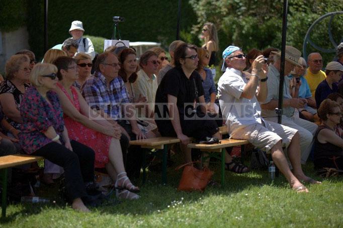 """""""Un public attentif"""" Festival JAZZ360 2014, Mil&Zim Jazz, château Lestange, Quinsac. 08/06/2014"""