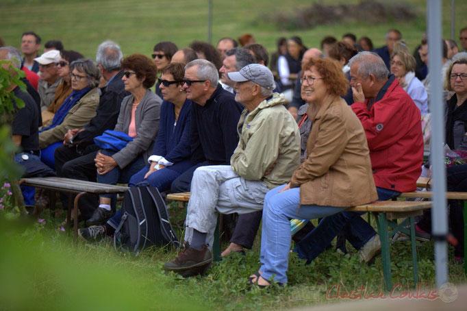 Festival JAZZ360 2015, un public attentif à l'écoute d'Isotope Trio, Château Lestange, Quinsac. 14/06/2015