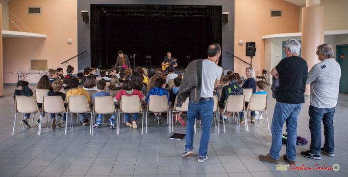 Concert pédagogique en présence des enseignant-es et de Richard Raducanu, Président de l'association JAZZ360, Marie Raducanu et Jean-Paul Robert, bénévoles. Cénac, 05/06/2018