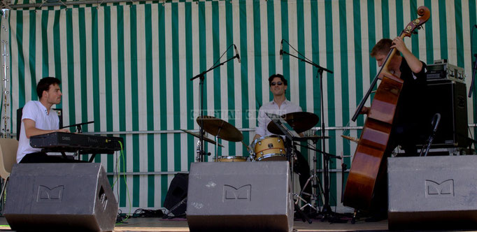 Festival JAZZ360 2014, Thomas Mayeras, Germain Cornet, Julien Daude; Thomas Mayeras Trio, Cénac. 07/06/2014