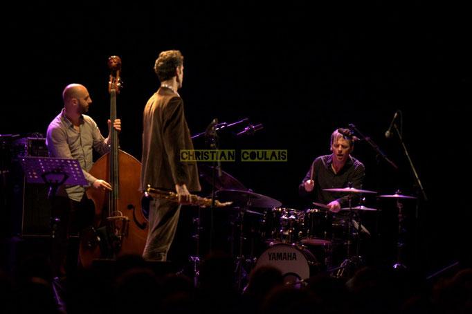 Festival JAZZ360 2014, Mauro Gargano, Christophe Laborde, Louis Moutin; Christophe Laborde Quartet. Cénac, 06/06/2014