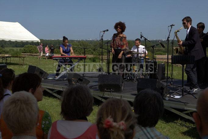 Valérie Chane-Tef, Mayomi Moreno, Franck Leymeregie, François-Marie Moreau; Akoda Quintet, Festival JAZZ360 2014, Quinsac.08/06/2014