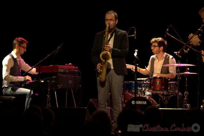 Julian Caetano, Régis Ferrante, Thomas Doméné, les Métropolitains, Festival JAZZ360 2013, Cénac. 08/06/2013