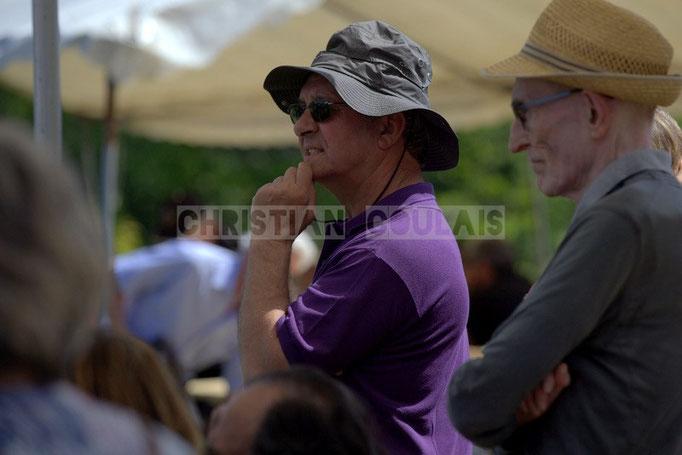 """""""Chapeaux 3"""" Bernard Capdepuy, élu de Quinsac en charge du Festival JAZZ360 2014, château Lestange. 08/06/2014"""
