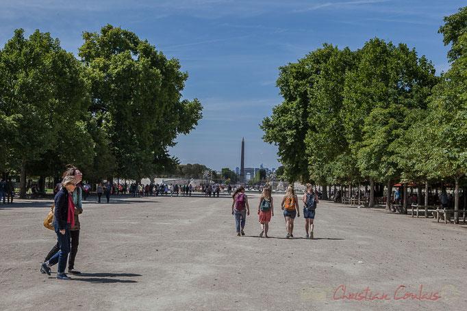 Allée centrale vers la Place de la Concorde, Jardin des Tuileries, Paris 1er