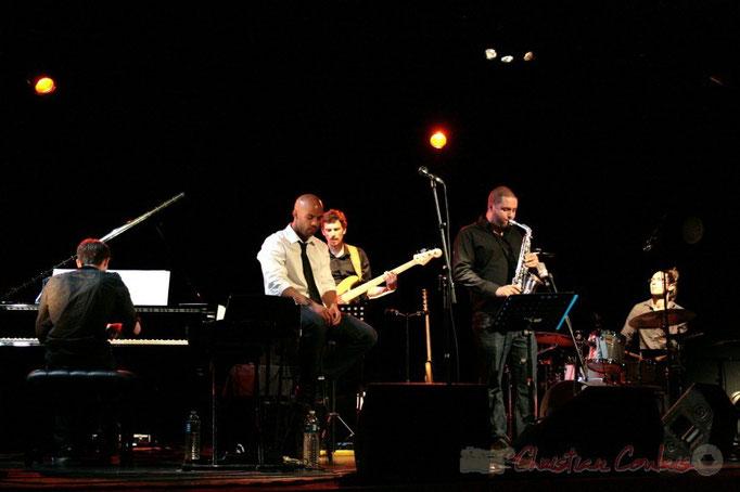 Xavier Duprat, Marco Codjia, Benoît Lugué, Denis Guivarc'h, Vincent Sauve; Fada. Festival JAZZ 2010, Cénac. 14/05/2010
