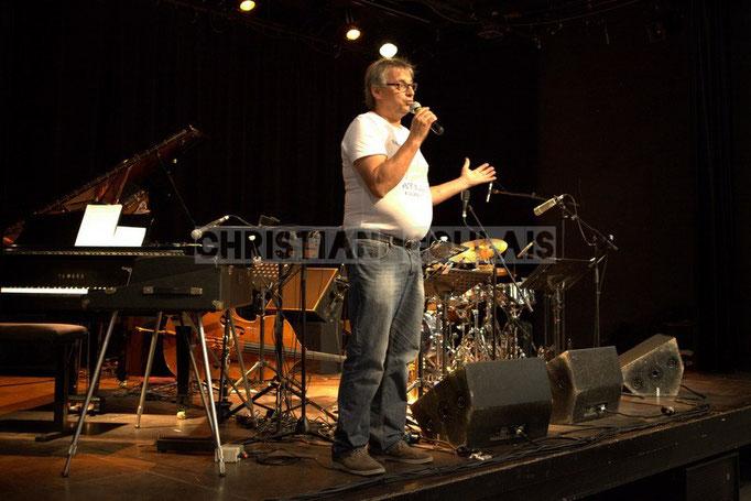 Richard Raducanu, élu en charge du Festival JAZZ360 2014; Anne Quillier Sextet, Cénac. 07/06/2014